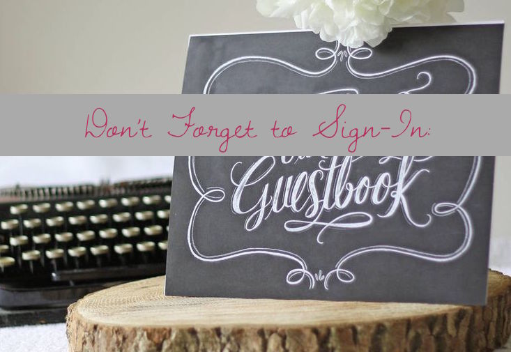 Don't Forget to Sign-In: Guest Books   13 of Our Favorite Non-Traditional Books   Occasions by M&K LLC