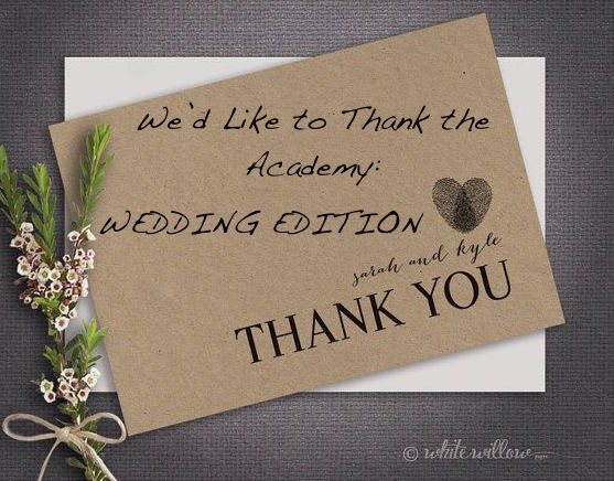 We'd Like to Thank the Academy: Wedding Edition | Navigating Wedding Thank You Etiquette | Occasions by M&K