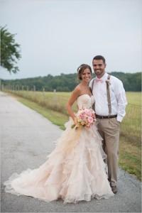 Blush Wedding Dress