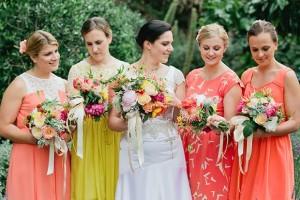 Nonmatching Bridesmaids