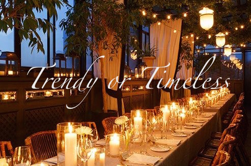 Trendy or Timeless | A Look at Our Favorite Wedding Styles | Occasions By M&K